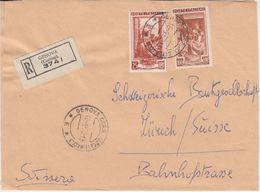 Italien - 100+25 L. Freimarken Einschreibebrief I.d. SCHWEIZ Genua - Zürich 1952 - Italien