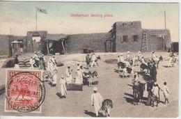 Sudan - 4 Mill. Kamelreiter AK Omdurman Landing Place N. Sonneberg 1913 - Soudan (1954-...)