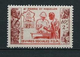 SAINT PIERRE ET MIQUELON 1950 . N° 344  . Neuf * (MH) - Unused Stamps