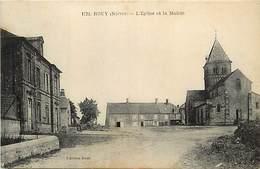 - Dpts Div.-ref-AR684- Nièvre - Rouy - L Eglise Et La Mairie - Petit Plan Hotel - Carte Bon Etat - - Autres Communes