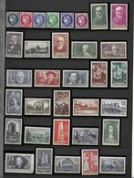 FRANCE - ANNEES COMPLETES 1937 - 1938 - 52 Timbres Neufs Luxe** Du N° 372 Au N° 418. Voir Descriptif. - ....-1939