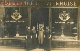 """CARTE PHOTO : DEVANTURE """" BOULANGERIE VIENNOISE """" PAIN GRILLE JACQUET COMMERCE BAKERY - Marchands"""