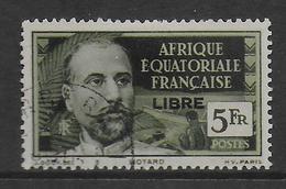 AEF  -  FRANCE LIBRE - YVERT N° 125 OBLITERE  - COTE = 110 EURO - A.E.F. (1936-1958)