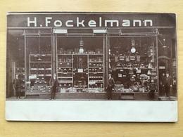 CPA HAMBOURG DEVANTURE MAGASIN ANIMALERIE OISEAUX H.FOCKELMANN ANIMATION - Allemagne
