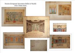 1 Ensemble De Dessin Belloir Et Vazelle Peintres Décorateurs Du 19ème Siècle - Disegni