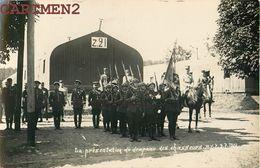 CARTE PHOTO : BITCHE PRESENTATION DU DRAPEAU DES CHASSEURS 1928 CASERNE GUERRE 57 MOSELLE - Bitche