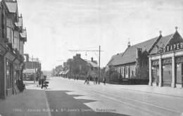 CPA ASHLEY ROAD ST JOHN S CHURCH PARKSTONE - Inghilterra