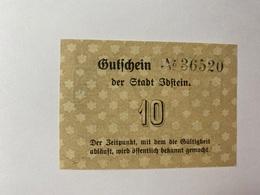Allemagne Notgeld Ibstein 10 Pfennig - [ 3] 1918-1933 : République De Weimar