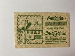 Allemagne Notgeld Ibstein 50 Pfennig - [ 3] 1918-1933 : République De Weimar
