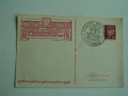 1944 Landerneau Exposition Du Prisonnier Obliteration Carte Exposition - Marcophilie (Lettres)