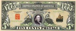 USA-FANTASY DOLLARS-5 CENTS POSTAGE-UNC - USA