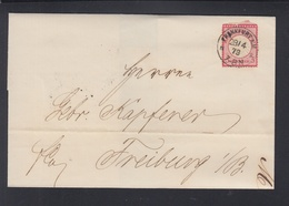 Dt. Reich Brief 1873 Frankfurt Am Main Nach Freiburg - Germany