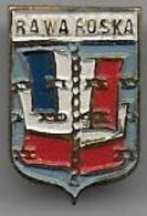 Camp De Concentration RAWA RUSKA ( Pologne ) Insigne En Métal Peint - Insignes & Rubans