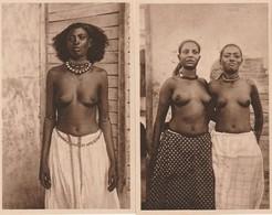 4 Real Postcards, 8 Scans, Jeune Mauresque, Beauté Indigène, Jeune Femmes Somaliers, Femme Abéraoual - Afrique Du Nord (Maghreb)