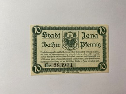Allemagne Notgeld Jena 10 Pfennig - [ 3] 1918-1933 : République De Weimar