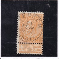 COB  65  Oblitéré Merksem - 1893-1900 Fine Barbe
