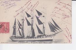 """CP 1907 : Le Quatre Mâts """" Antoinette """" à Marseille - Zeilboten"""