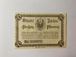 Allemagne Notgeld Jena 50 Pfennig - [ 3] 1918-1933 : République De Weimar