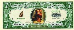 USA-FANTASY DOLLARS-PRAISE THE LORD-PEACE ON EARTH-UNC - USA