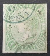 Espagne: Yvert N° 69 (Isabelle II, 1865) Oblitéré - 1850-68 Royaume: Isabelle II