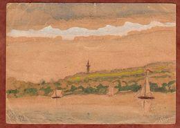 P 50/03 Pieck, Handgemalte Zeichnung, Berlin-Gruenau Nach Bremen 1952 (91811) - Cartes Postales - Oblitérées