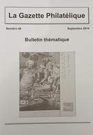 Revue Thématique N°48 : Télégrammes Publicitaires Italiens, Lyre D'Aix, Spécimens De Carnets De Timbres De La République - Motive