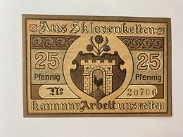 Allemagne Notgeld Kaltennordheim 25 Pfennig - [ 3] 1918-1933 : République De Weimar