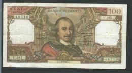 """France Billet 100 Francs """" Corneille """"  N° 48710  / U.281 Date : J.7-1261967.J.  -  Laura 4902 - 100 F 1964-1979 ''Corneille''"""