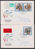 200. Jahrestag Der Französichen Revolution 1789 - 1989 Je Auf Briref, Nach Bern - Schweiz, Erstürmung Der Tuillerien - DDR