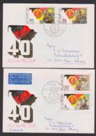 40 Jahre Deutsche Demokratische Republik, FDC Nach Bern - Schweiz, DDR 3279/82 - DDR