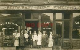 """Photo Cpa 75 PARIS XIX. Café Restaurant """" Au Prévôt """" Boulevard De Belleville 1926 Bière Dumesnil - Arrondissement: 19"""