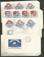 4 Pcs ROMANIA - 1964 - Space - Cosmonauts - 1948-.... Repubbliche
