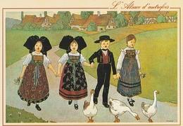 CP Illustrateur Hansi Alsace Autrefois - Hansi