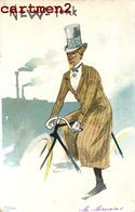 "ILLUSTRATEUR "" NEW-YORK "" HUMOUR CARICATURE SERIE VILLE UNITED-STATES VELO CYCLISTE CYCLISME BIKE SPORT 1900 - Cyclisme"