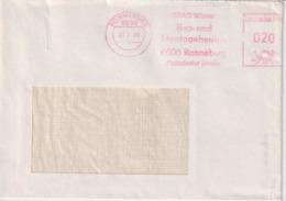 Brief DDR, Absenderfreistempel SDAG Wismut, Bau- Und Montagebetrieb Ronneburg, 1986, Bergbau - Mineralien