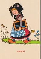 CP Illustrateur Hansi Ecolière Ardoise - Hansi