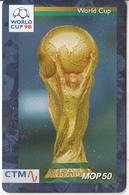 MACAU(chip) - FIFA World Cup 98 France/World Cup, CN : 58MCU98D, 04/98, Used - Macau