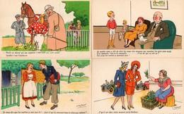 CP Illustrateur Spahn Lot 4 Cartes Cheval Muguet - Andere Zeichner