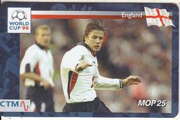 MACAU(chip) - FIFA World Cup 98 France/England, CN : 52MCU98D, 04/98, Used - Macau