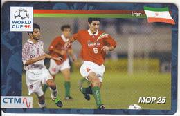 MACAU(chip) - FIFA World Cup 98 France/Iran, CN : 49MCU98D, 04/98, Used - Macau