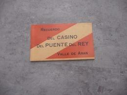 CARNET DE CPA Recuerdo Del CASINO Del PUENTE Del Rey / Vallée De Aran / Val D ' Aran / Douaniers - Other
