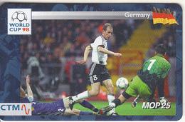MACAU(chip) - FIFA World Cup 98 France/Germany, CN : 46MCU98D, 04/98, Used - Macau