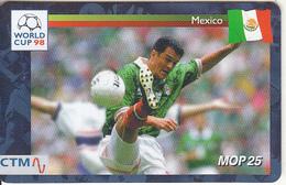 MACAU(chip) - FIFA World Cup 98 France/Mexico, CN : 45MCU98D, 04/98, Used - Macau