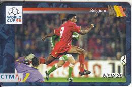 MACAU(chip) - FIFA World Cup 98 France/Belgium, CN : 43MCU98D, 04/98, Used - Macau