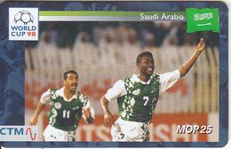 MACAU(chip) - FIFA World Cup 98 France/Saudi Arabia, CN : 36MCU98D, 04/98, Used - Macao