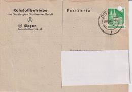 Karte BRD, Rohstoffbetriebe Der Vereinigten Stahlwerke GmbH Siegen, 1948, Bergbau - Mineralien