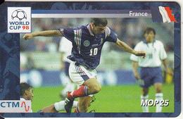 MACAU(chip) - FIFA World Cup 98 France/France, CN : 34MCU98D, 04/98, Used - Macau