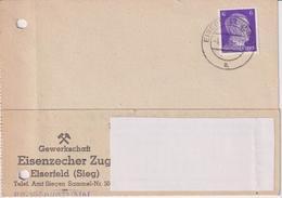 Karte Deutsches Reich, Gewerkschaft Eisenzecher Zug Eiserfeld, 1942, Bergbau - Mineralien