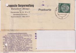 Karte Deutsches Reich, Kruppsche Bergverwaltung Betzdorf-Sieg, 1941, Bergbau - Mineralien
