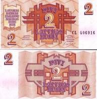 Billet Lettonie 2 Rouble - Lettonie